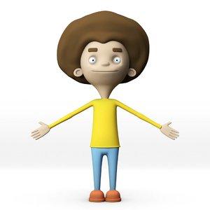 character child human 3D model