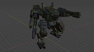 assault mech-a11 3D model