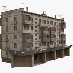 3D soviet apartment building