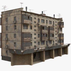 3D soviet apartment building