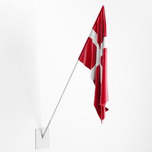 flag wall mount 3D