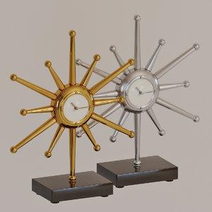3D global views star desk model
