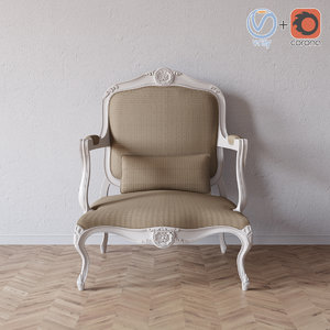 3D louis xv armchair model