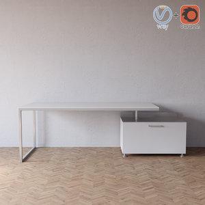 desk chest ligne roset 3D