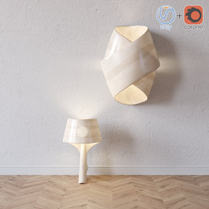orbit table lamp lzf 3d 3ds