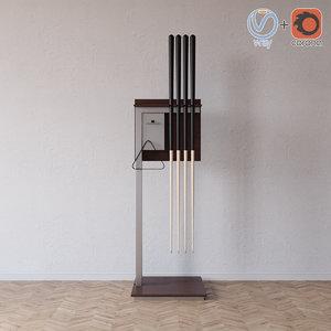 3ds max floor cue rack o8o