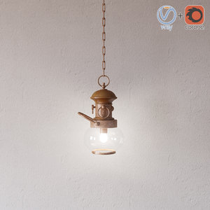 wind light ottone legno 3ds
