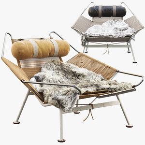3D model pp225 flag halyard chair