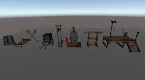 medieval torture 3D model