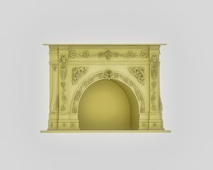 3D fireplace place mantel