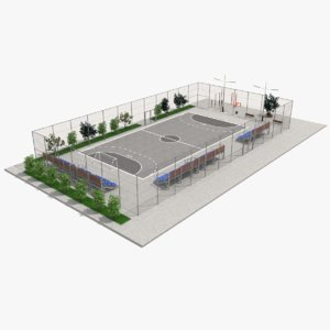 3D street football play ground model