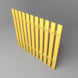 fence wooden 2 model