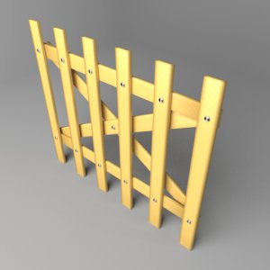 fence wooden 5 3D model