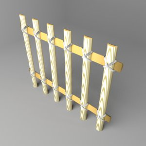 3D fence wooden 4