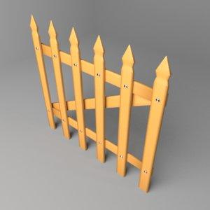 fence wooden 9 model