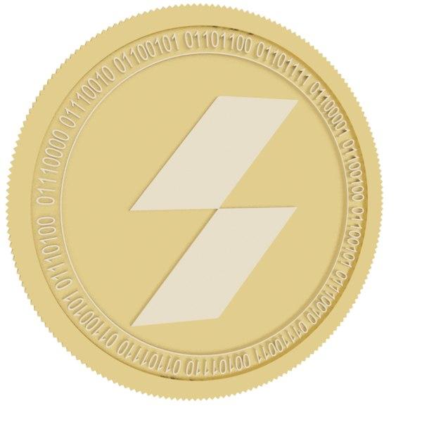 3D stpt gold coin