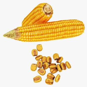 corn nut 3D model