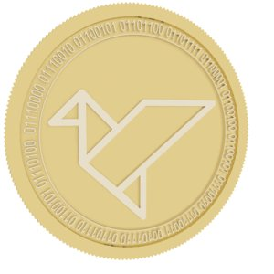 3D swarm gold coin