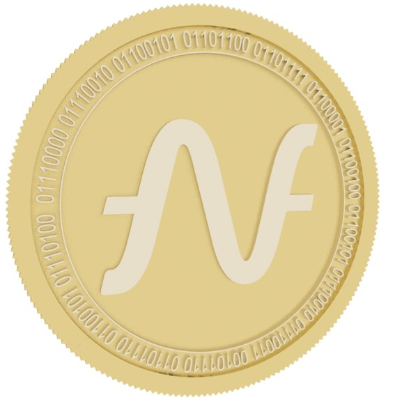 3D model suncontract gold coin