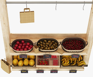 greengrocer 6 display stand 3D model