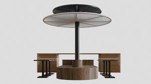 3D food court model