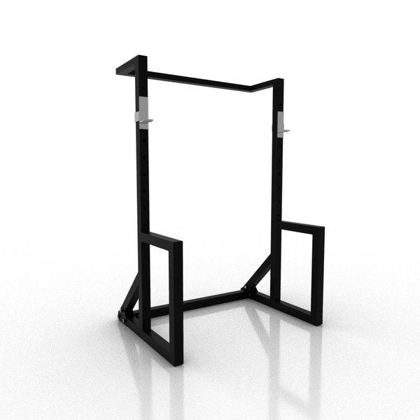 free 3d diy squat rack turbosquid 1556448