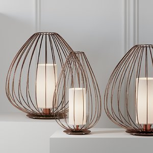 3D table lamps karman ceill model