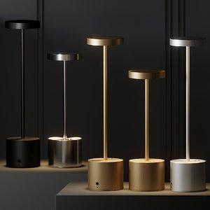 table lamps hisle luxciole 3D model