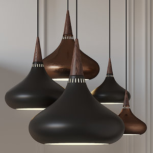 3D model ceiling lights fritz hansen