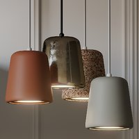 NEW WORKS Material Pendant Light 4 Different Materials