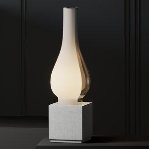 table lamps karman concrete 3D model