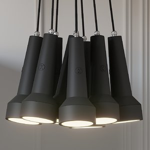 ceiling lights karman torcia 3D model