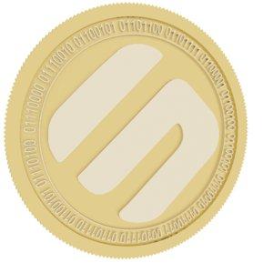 3D swipe gold coin model