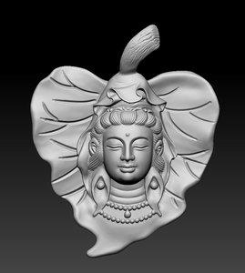 3D pendant buddha model