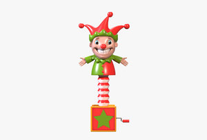 3D clown box