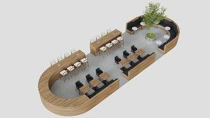 food court 3D
