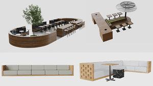 food court 3D model