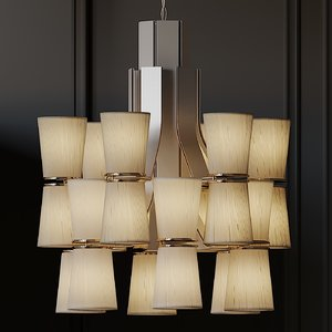3D model ceiling lights isaac muse