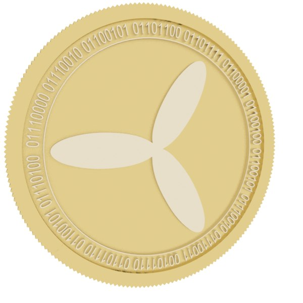 3D te food gold coin