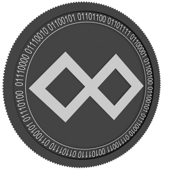 tenx black coin 3D