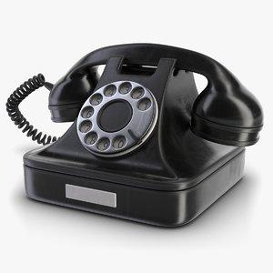 retro phone black model