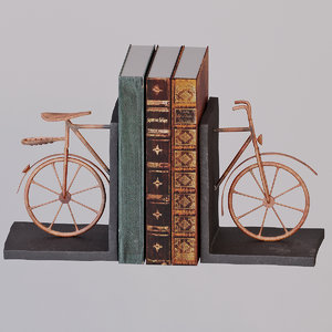 3D model design bicycle bookend books