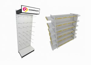 supermarket retail shelf display model