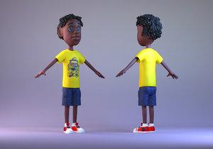 black boy hip-hop young 3D model