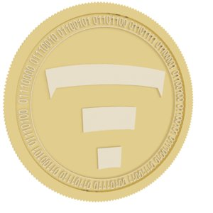 3D tierion gold coin