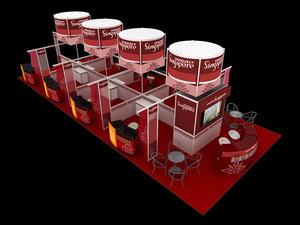 3D uniquely singapore exhibition 6x15 model