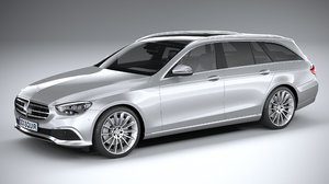 3D mercedes e-class estate model