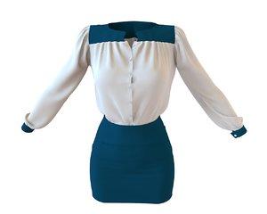 designer skirt 3D