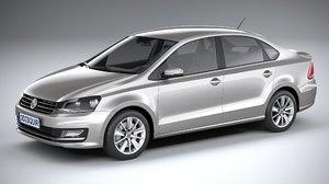 3D volkswagen polo sedan model