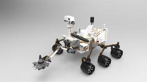 curiosity mars rover 3D